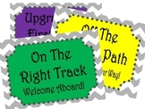Behavior Clip Chart - Travel Theme