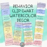 Behavior Clip Chart-Watercolor Decor