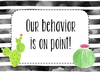Editable Behavior Clip Chart- Watercolors & Succulents Theme