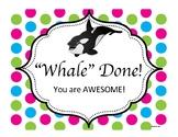 Behavior Clip Chart Ocean Theme--Whales
