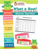Owl Behavior Clip Chart with Calendars and Brag Bracelets