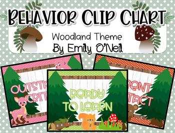 Behavior Clip Chart (Woodland Theme)