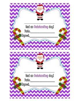 Behavior Clip Chart - Christmas chevron