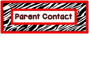 Behavior Clip Chart - Zebra Stripes Theme