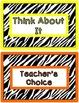 Behavior Clip Chart - Zebra Stripes Theme (vertical)