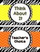 Behavior Clip Chart - Zebra and Chevron Theme