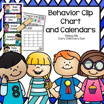Behavior Clip Chart and Behavior Calendars