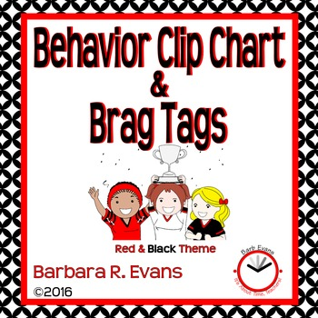 BEHAVIOR CLIP CHART: Red & Black Edition