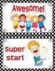 BEHAVIOR CLIP CHART & BRAG TAGS: Red & Black Edition