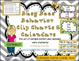 Behavior Clip Chart and Calendar with Bees Bundle - Editable - 2019-2020