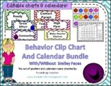 Behavior Clip Chart and Calendar Smiley Faces Bundle - Editable - 2019-2020