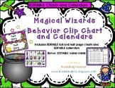 Wizard-themed Behavior Clip Chart and Calendars(editable) 2019-2020