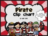 Behavior Clip Chart and Communication Log -Pirate theme