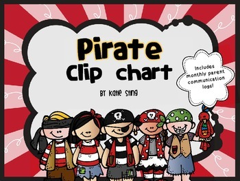 Behavior Clip Chart and Communication Log -Pirate theme
