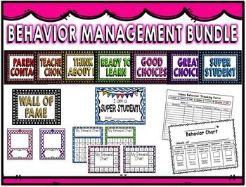 Behavior Clip Chart and Management Bundle
