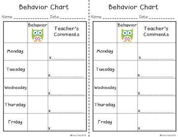 Behavior Clip Chart and Management Tools - Owls & Chevron {Editable}