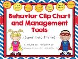 Behavior Clip Chart and Management Tools - Super Heroes {Editable}