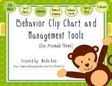 Behavior Clip Chart and Management Tools - Zoo Animals {Editable}