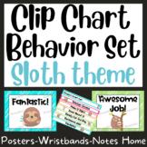 Sloth Behavior Clip Chart and Wristband Set