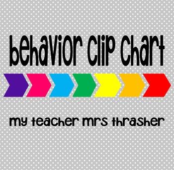 Behavior Clip Chart (and data binder sheet)