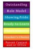 Behavior Clip Chart for Student's Desk