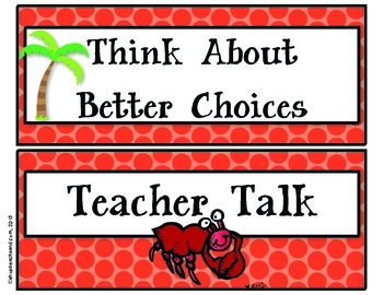Behavior Clip Chart for the Beach Lovin' Classroom