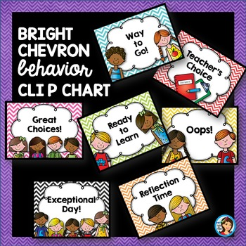 Behavior Clip Chart in Bright Chevron