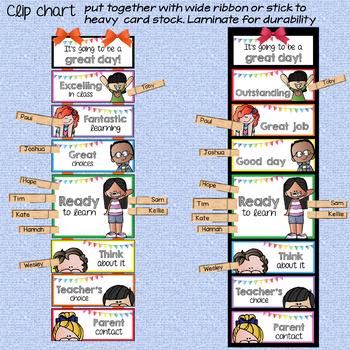 Behavior Clip Chart in Crisp White EDITABLE
