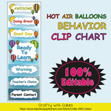Behavior Clip Chart in Hot Air Balloons Theme - 100% Editble