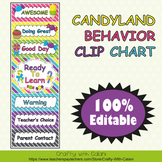 Behavior Clip Chart in Candy Land Theme - 100% Editble