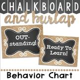Behavior Clip Chart in a Chalkboard and Burlap Decor Theme
