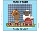 Behavior Clip Chart or Pocket Chart: Farm Themed