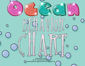 Behavior Clip Chart or Pocket Chart: Ocean Themed