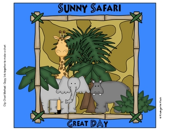Behavior Clip Chart or Pocket Chart: Safari Themed