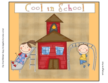 Behavior Clip Chart or Pocket Chart: School Themed