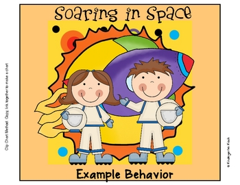 Behavior Clip Chart or Pocket Chart: Space Themed