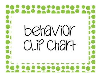 Behavior Clip Chart polka dot