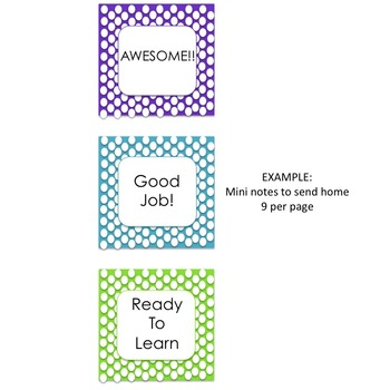 Behavior Clip Chart (polka dots)