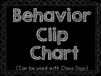 Behavior Clip Chart to Use with Class Dojo