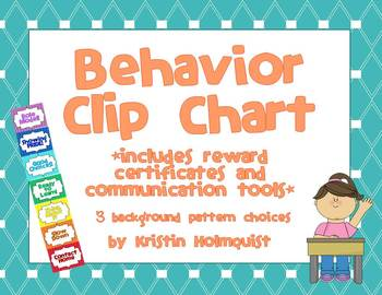 Behavior Clip Chart w/ Reward Certificates and Communication Forms