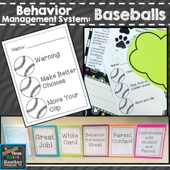 Behavior Clip Chart with Baseball System