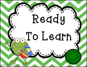 Behavior Clip Chart with Frogs and Chevron