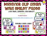 Behavior Clip Chart with Smiley Faces and Chevron