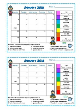 Behavior Clip Chart and Monthly Calendars for the Entire Year {Kids Theme}