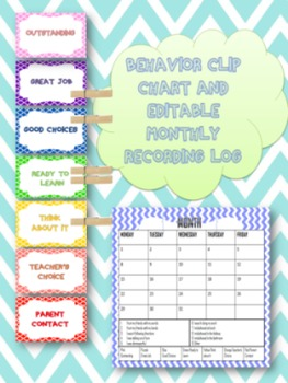Behavior Clip Chart with Monthly Calendar