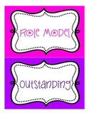 Behavior Clip Chart (with name tags and certificate)