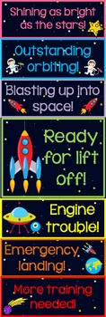 Behavior Clip Charts: 2 Space Themed Charts