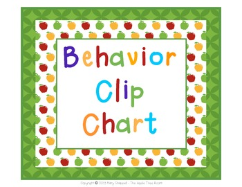 Behavior Clip Chart - Apple Theme