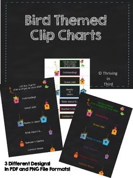 Behavior Clip Charts - Bird Themed
