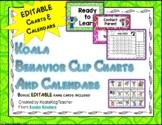 Behavior Clip Charts and Calendars with Koalas EDITABLE 2018-2019